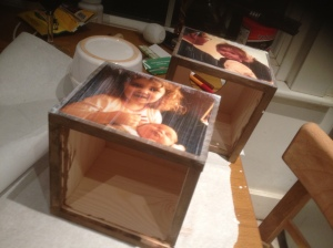 Personalised photo tissue boxes