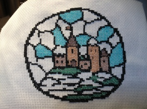 Castle on the Hill cross stitch